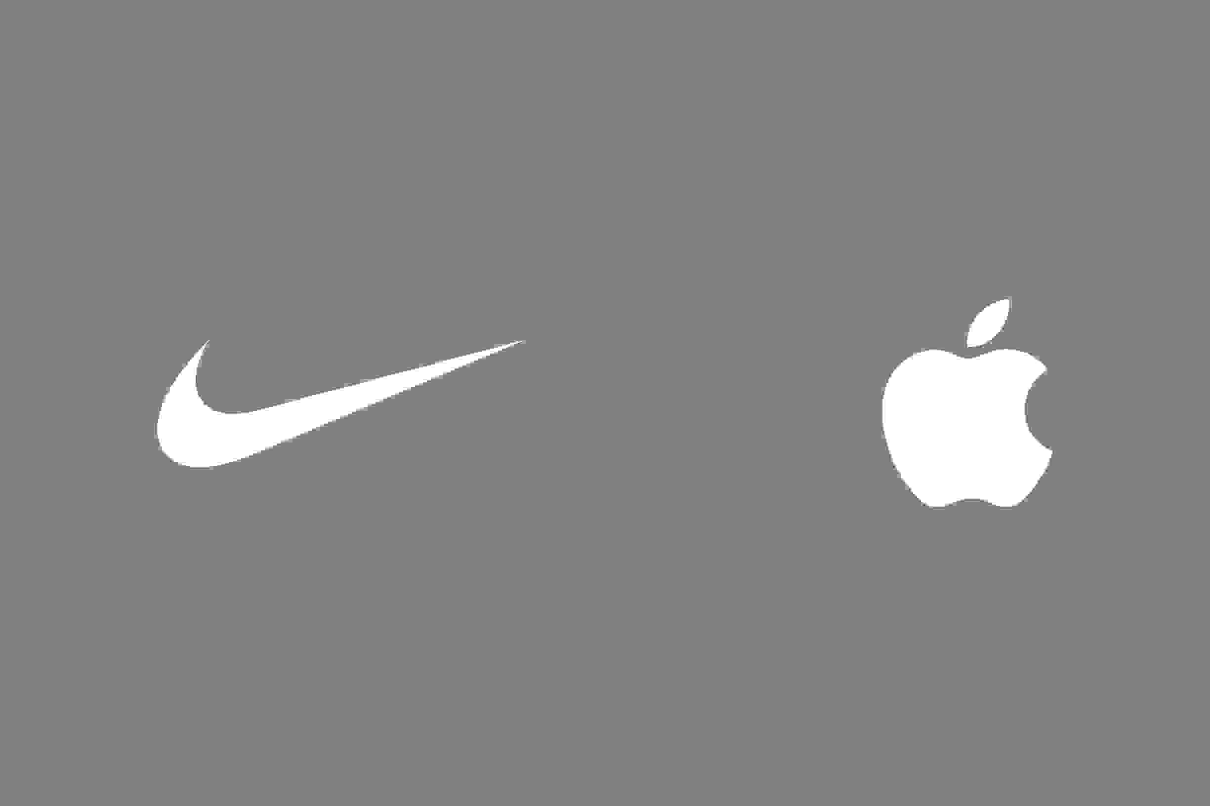Nike and Apple logo side by side