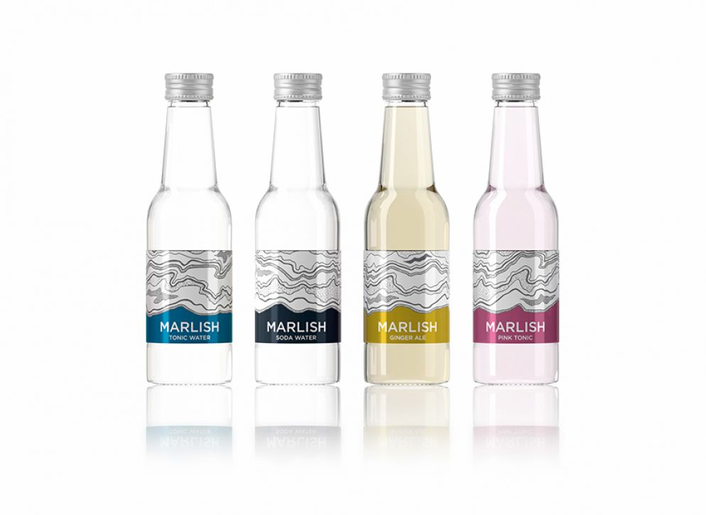 Four flavoured Marlish Water bottles