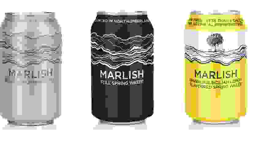 Three cans of Marlish Water