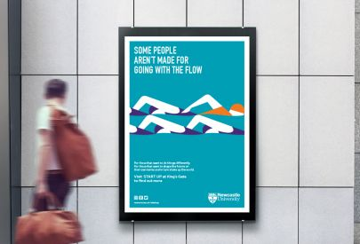 Newcastle University START UP advertising board